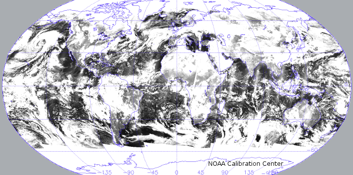 Suomi NPP VIIRS DNB Global Night Light (Full Moon)